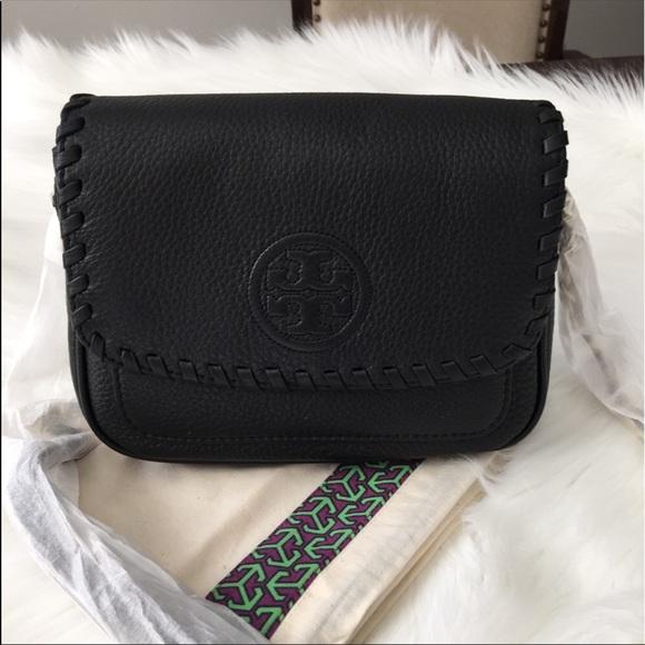 2c873dca9cb NWT Tory Burch Marion Mini Leather Crossbody Black
